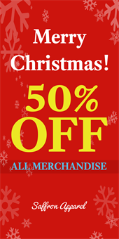 Merry Christmas Sale Pole Banner: 592-6