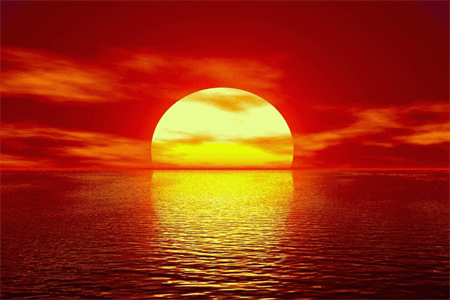Ocean Sunset Rear Window Graphic: 512-2