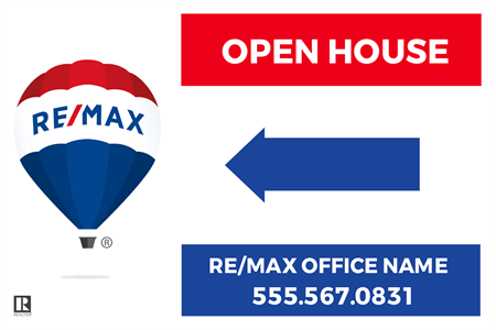 REMAX Realtor Directional Yard Sign: 711-3