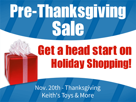 Pre-Thanksgiving Sale Window Decal: 759-1