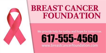 Breast Cancer Foundation Acrylic Sign: 769-1
