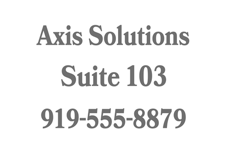 Business Suite Number Etched Glass Decal: 823-3