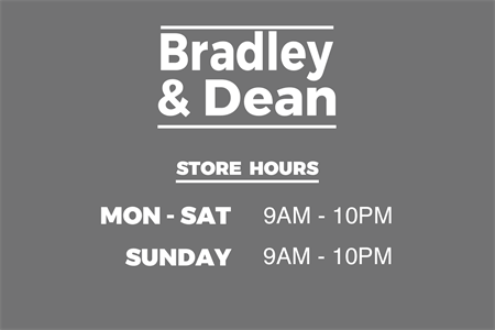 Department Store Hours Etched Glass Decal: 2600-3