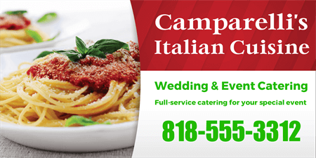 Italian Restaurant Catering and Delivery Menu Board: 845-1
