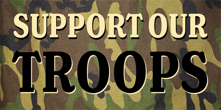 Support Troops Camo Banner: 847-1