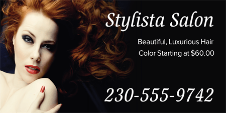 Hair Color Advertising Mesh Banner: 848-1