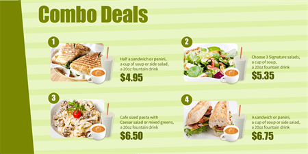 Combo Deals Menu Board: 1448-2