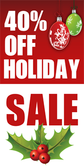 Holiday Sale Vertical Window Decal: 864-1