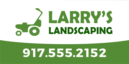 Landscaping Lawnmower Car Magnet: 906-1