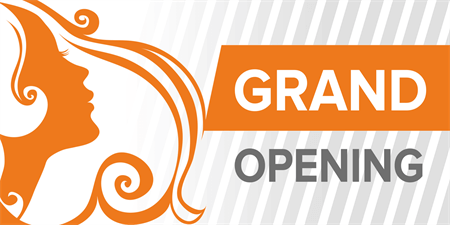 Salon Grand Opening Yard Sign: 921-1