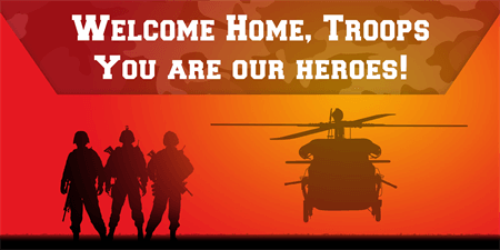 Welcome Home Military Banner: 1084-1