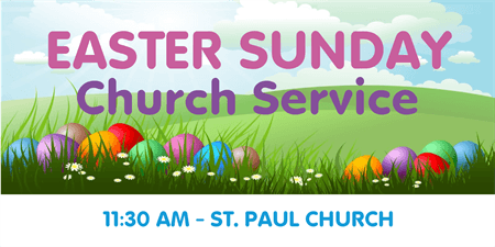 Easter Church Service Flyer: 1169-1