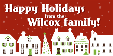 Holiday Wishes From Window Decal: 1329-1