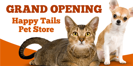 Pet Store Grand Opening Yard Sign: 1371-1