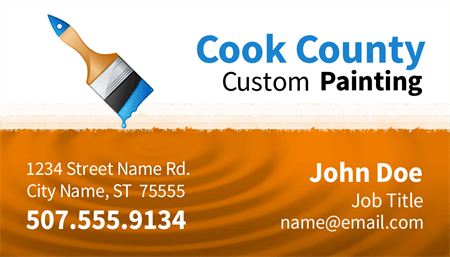 Custom Painting Business Card: 1389-1