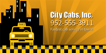 Fast Cab Service Banner: 1398-1