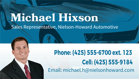 Car Sales Business Card: 1426-1