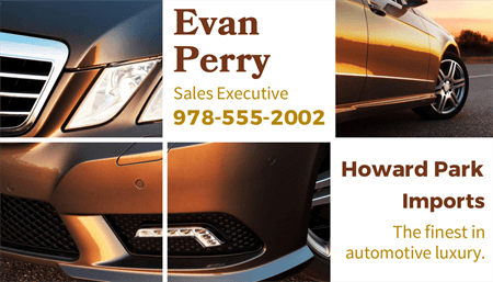Luxury Auto Sales Business Card: 1429-1