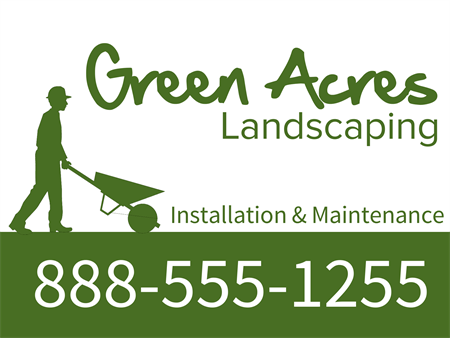 Wheelbarrow Landscaping Banner: 1513-1