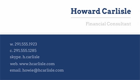 Simple Corporate Business Card: 1535-1