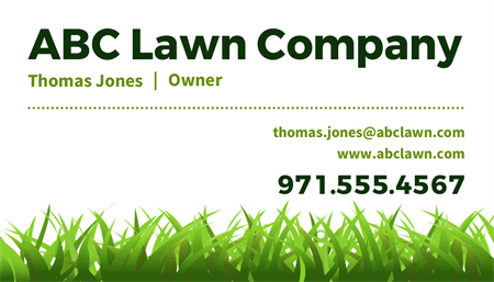 Landscaping Company Owner Business Card: 1572-1