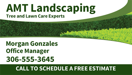 Landscaping Office Manager Business Card: 1573-1