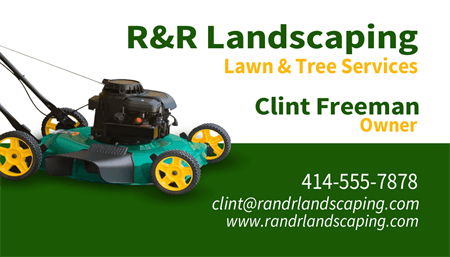 Lawncare Owner Business Card: 1574-1