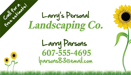 Landscaping Employee Business Card: 1575-1