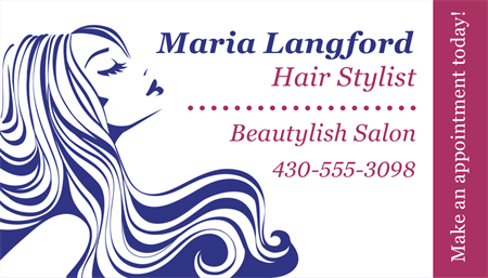 Hair Stylist Business Card: 1584-1