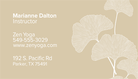 Ginkgo Leaves Business Card: 1589-1
