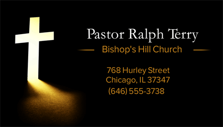 Pastor Information Business Card: 1773-1