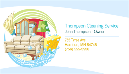 Cleaning Service Owner Business Card: 1780-1
