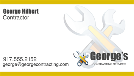Contractor Business Card: 1897-1
