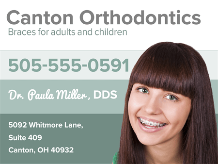 Orthodontic Smiles Business Card: 2016-1