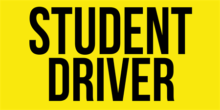 Student Drivers Car Magnet: 2031-1