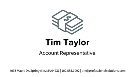Simple Black And White Business Card: 2049-1