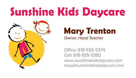 Day Care Owner Business Card: 2052-1