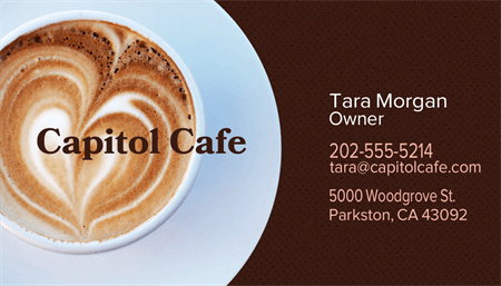 Cafe Owner Business Card: 2058-1
