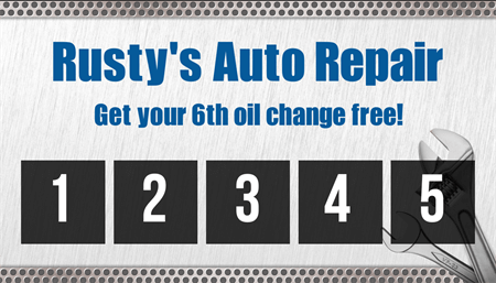 Auto Repair Oil Changes Business Card: 2059-1