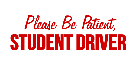 Red Student Driver Car Magnet: 2060-1