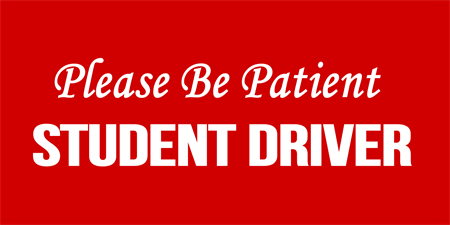 Red Driving Student Car Magnet: 2061-1