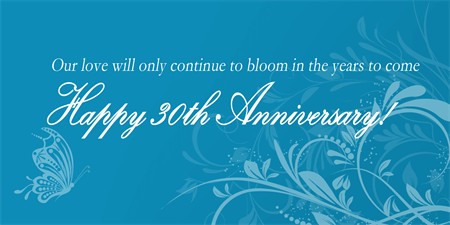 Lily Floral Anniversary Banner: 2168-1