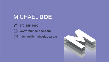 Stylized Initial Business Card: 2694-1