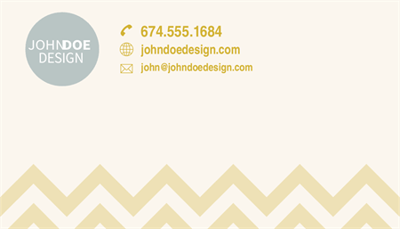 Chevron Stripes Business Card: 2697-1