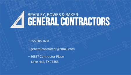 General Contractors Business Card: 2707-1