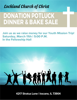 Church Potluck Flyer: 2816-1