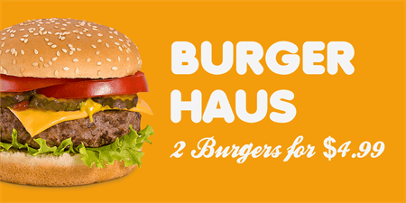 Burger Haus Menu Board: 3116-1