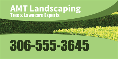Lawn Care Company Logo Car Magnet: 137-1