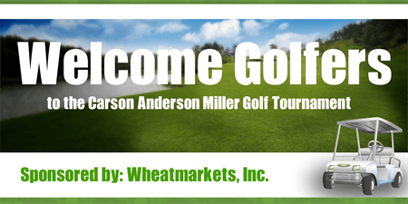 Welcome Golf Tournament Sponsors Check: 150-1
