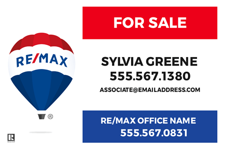 RE/MAX For Sale With Logo Vinyl Decal: 710-11